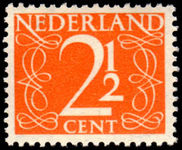 Netherlands 1947 2c Orange unmounted mint.