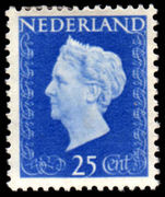Netherlands 1947 25c Ultramarine lightly mounted mint.