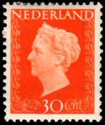 Netherlands 1947 30c Orange lightly mounted mint.