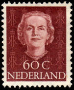 Netherlands 1949-51 60c Lake-Brown lightly mounted mint.