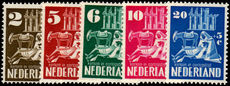 Netherlands 1950 Bombed Churches Set Perfect unmounted mint