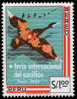 Peru 1960 Sea Bird Pacific Fair unmounted mint.