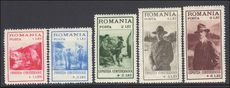 Romania 1931 Boy Scouts set fine mint lightly hinged.