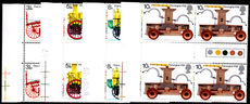 1974 Bicentenary of Fire Prevention gutter and traffic light block of 4 unmounted mint.
