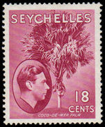 Seychelles 1941 18c Chalky Paper lightly mounted mint.