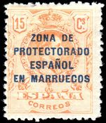 Spain Morocco 1916-21 15c mint lightly hinged.
