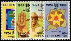 Surinam 1984 Scouts unmounted mint.