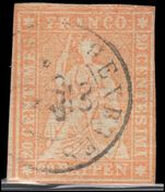 Switzerland 1862 2r Grey Berne printing superb clean 4 margin example