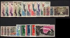 Togo 1959 Republic set incl airs unmounted mint.