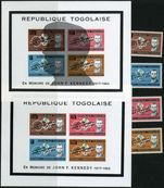 Togo 1961 JF Kennedy set & 2 souvenir sheets unmounted mint.