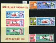 Togo 1967 Summer Olympics set & souvenir sheet unmounted mint.