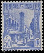 Tunisia 1934 50c Ultramarine Mosque unmounted mint.