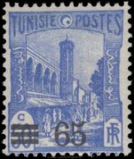 Tunisia 1937-41 65c on 50c Mosque mint lightly hinged.