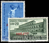 Trieste 1950 Unesco Mint Lightly Hinged.