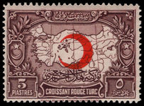 Turkey 1928 5pi Red Cross Fund lightly mounted mint.