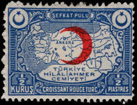 Turkey 1934-35 ½k Red Cross lightly mounted mint.