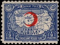 Turkey 1938-43 ½k Red Cross perf 10 DEVLET lightly mounted mint.