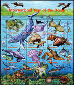 New York 1998 International Year of the Ocean sheetlet unmounted mint.
