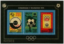 Uruguay 1974 Olympics Football souvenir sheet unmounted mint.