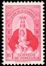 Venezuela 1952 Apparition of Our Lady of Coromoto (small) unmounted mint.