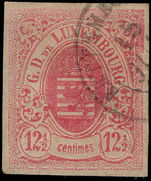 Luxembourg 1859-63 12½c rose fine used.