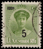 Luxembourg 1925 30c provisional fine used.