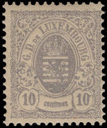 Luxembourg 1880 10c grey-lilac perf 12½ unmounted mint.
