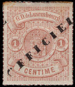 Luxembourg 1878-80 1c official rouletted in colour mounted mint.
