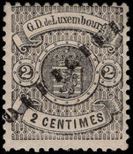 Luxembourg 1878-80 2c official perf mounted mint.