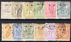 Luxembourg 1882-84 official perf 12½ set fine used.