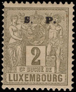Luxembourg 1882-84 2c official perf 12½ mounted mint.