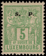 Luxembourg 1882-84 5c official perf 12½ mounted mint.