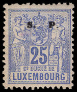 Luxembourg 1882-84 25c official perf 11½x12 mounted mint.