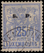 Luxembourg 1882-84 25c official perf 12½ fine used.