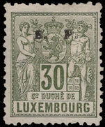 Luxembourg 1882-84 30c official perf 11½x12 unused no gum.