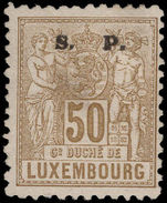 Luxembourg 1882-84 50c official perf 11½x12 unused no gum.
