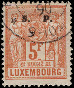 Luxembourg 1882-84 5f official perf 12½x12 fine used.