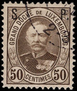 Luxembourg 1893-96 50c official perf 12½ fine used.
