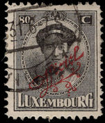 Luxembourg 1922-34 80c official red overprint fine used.