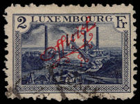 Luxembourg 1922-34 2f official red overprint fine used.