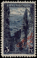 Luxembourg 1922-34 3f official perf 11½ red overprint fine used.
