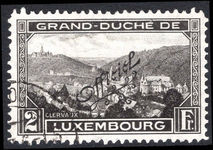 Luxembourg 1928 official fine used.