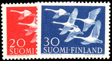 Finland 1956 Birds Flying Geese unmounted mint.