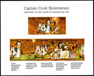 Australia 1970 Captain Cook souvenir sheet unmounted mint.