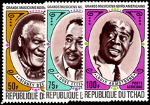 Chad 1971 Famous Black Musicians unmounted mint.