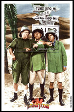 Mongolia 1998 Three Stooges souvenir sheet unmounted mint.