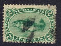 Newfoundland 1870 2c medium paper used