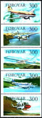 Faroe Islands 1985 Aircraft Booklet Pane unmounted mint.