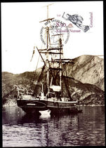 Greenland 1995 Tjalfe Ship Figurehead And Ship First Day Card