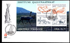 Greenland 2000 Vikings souvenir sheet First Day Cover